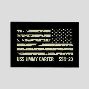 USS Jimmy Carter Rectangle Magnet