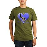 I Love Racing Siberians Organic Men's T-Shirt (dar