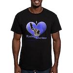 I Love Racing Siberians Men's Fitted T-Shirt (dark