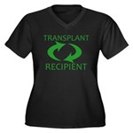Transplant Recipient Women's Plus Size V-Neck Dark