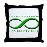 Saved By A Donor Throw Pillow
