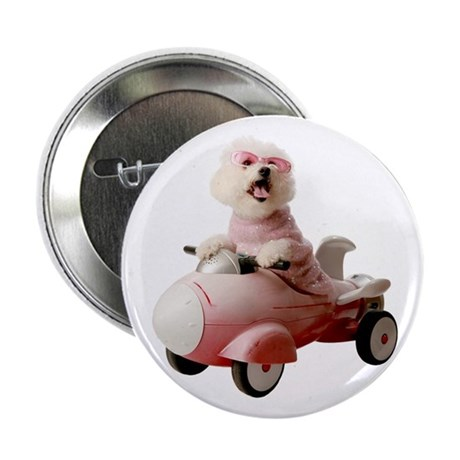 "Fifi the Bichon Frise 2.25"" Button (100 pack)"