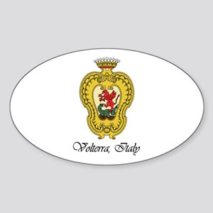 Volterra Italy Oval Sticker