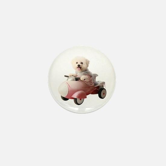 Cute Rocket dog Mini Button