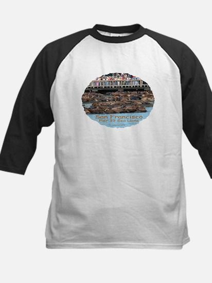 Pier 39 Sea Lions - Kids B/W Baseball Jersey