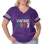 vintage 1967 Women's Plus Size Football T-Shirt