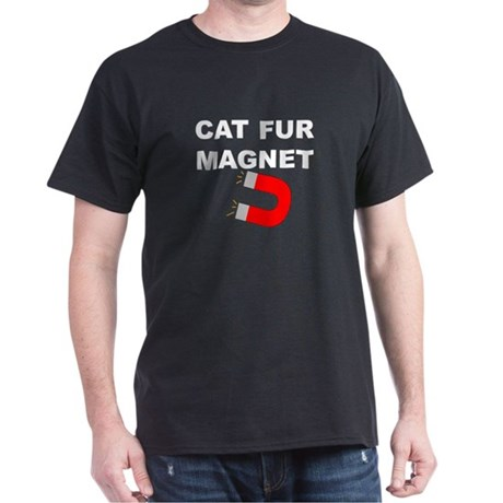 Cat Fur Magnet Black T-Shirt