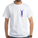 Male Gymnast White T-Shirt