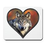 Wolf Heart Mousepad