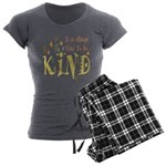 Always Time to be Kind Women's Charcoal Pajamas