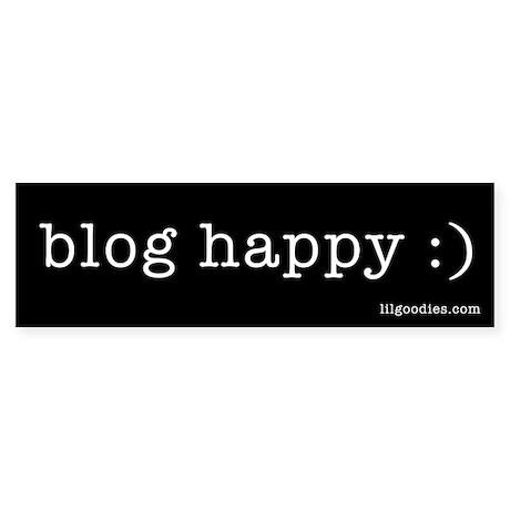 Blog Happy Bumper Sticker