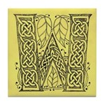 Celtic Letter W Tile Coaster