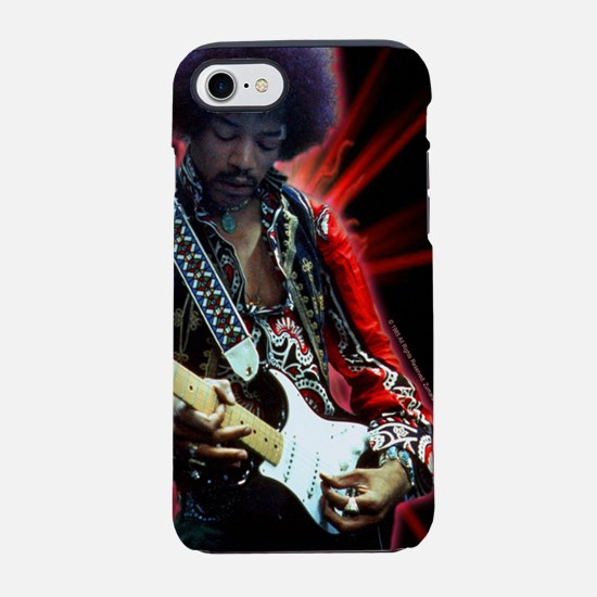 Jimi Hendrix Red Spark iPhone 7 Tough Case