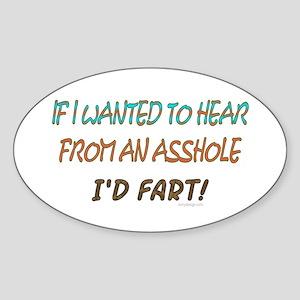 Asshole! Oval Sticker