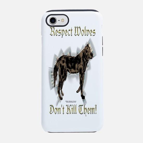 Bottle_WolvesRespect.png iPhone 7 Tough Case