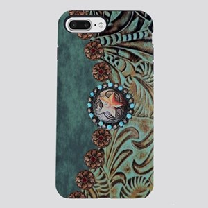 Country Western turquoise iPhone 7 Plus Tough Case