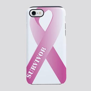 pink_ribbon_3d_survivor iPhone 7 Tough Case