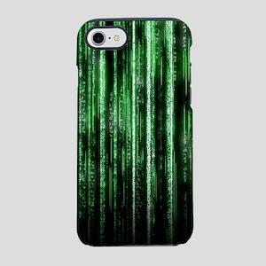 Digital Rain - Green iPhone 7 Tough Case