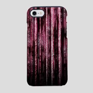Digital Rain - Red iPhone 7 Tough Case