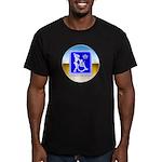 Thug Free America Men's Fitted T-Shirt (dark)