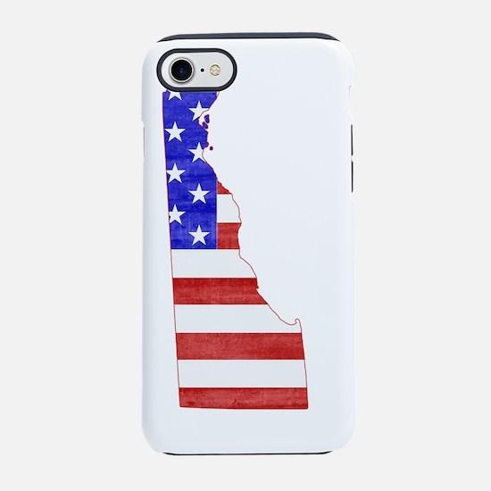Delaware USA silhouette state  iPhone 7 Tough Case