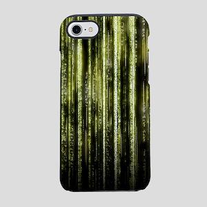 Digital Rain - Yellow iPhone 7 Tough Case