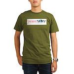 Peace Now Organic Men's T-Shirt (dark)