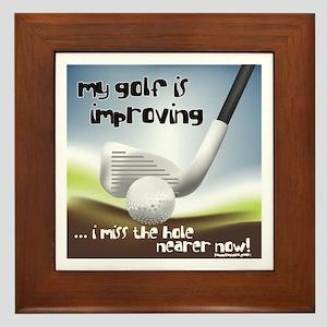 Golf Improving Framed Tile