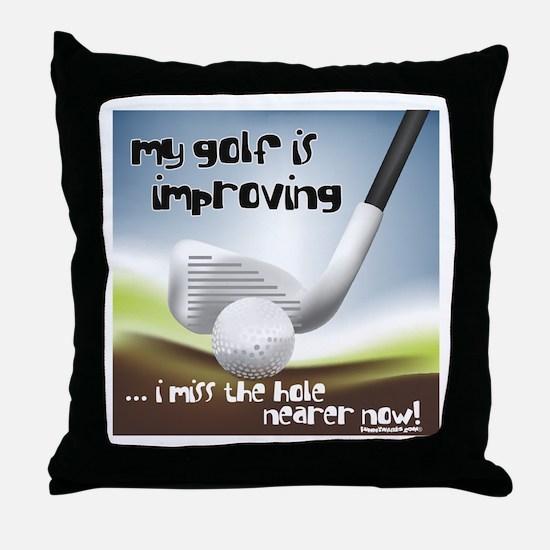 Golf Improving Throw Pillow