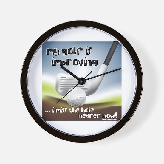Golf Improving Wall Clock