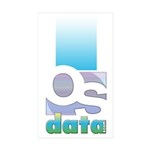 OSdata Rectangle Sticker 50 pk)