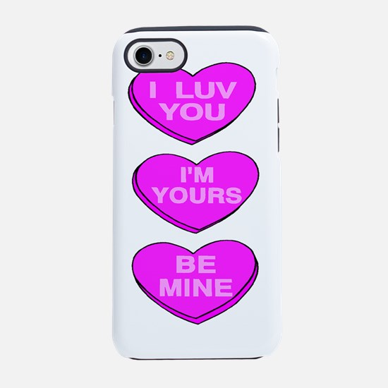 Valentine Message Hearts.png iPhone 7 Tough Case