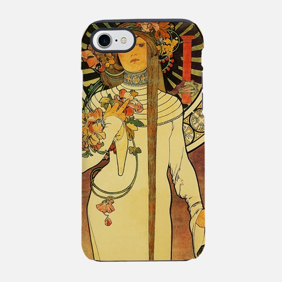 Vintage Art Nouveau Mucha Trap iPhone 7 Tough Case