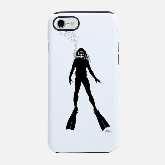 Woman_Diver_Silhouette_FINAL.p iPhone 7 Tough Case