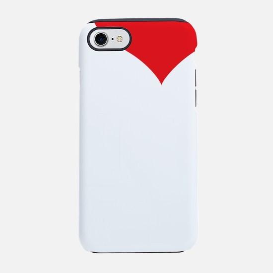 ILoveVeganMen_3Lines_White.png iPhone 7 Tough Case