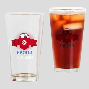 Football Tunisia Tunisians Soccer T Drinking Glass
