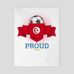 Football Tunisia Tunisians Soccer Twin Duvet Cover