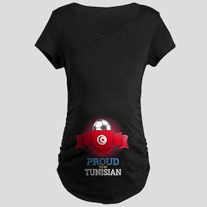 Football Tunisia Tunisians Socce Maternity T-Shirt