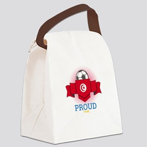 Football Tunisia Tunisians Soccer Canvas Lunch Bag