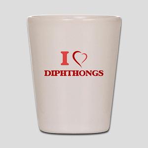 I love Diphthongs Shot Glass