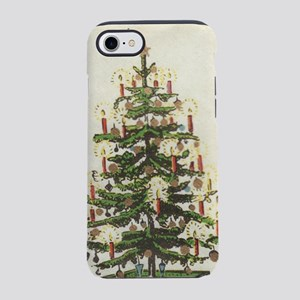 Vintage Xmas Tree on Old Paper iPhone 7 Tough Case