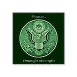 Peace Through Strength Sticker