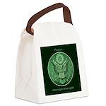 Peace Through Strength Canvas Lunch Bag