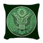 Peace Through Strength Woven Throw Pillow