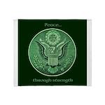 Peace Through Strength Throw Blanket