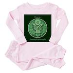 Peace Through Strength Toddler Pink Pajamas