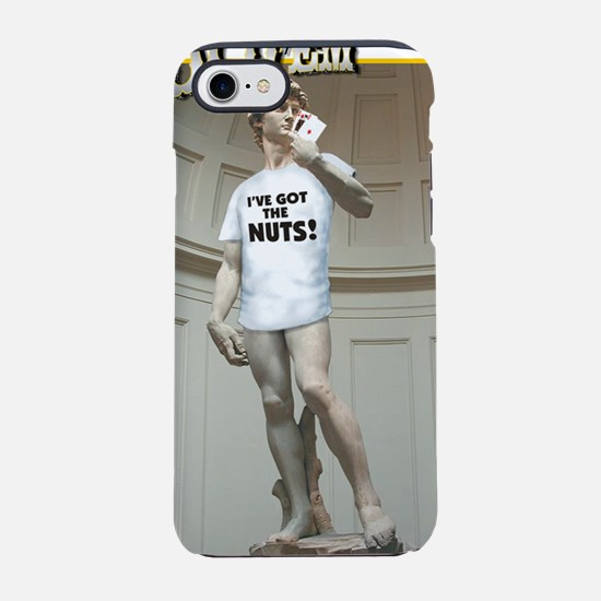 T HOLDEM DAVID NUTS (WHITE BG) iPhone 7 Tough Case