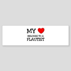 My Heart Belongs To A FLAUTIST Bumper Sticker
