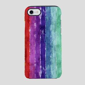 Geometric Stripes Watercolor iPhone 7 Tough Case
