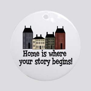 Home Story Ornament (Round)